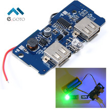 5V 2A Power Bank Charger Board Charging Circuit Board Step Up Boost Power Supply Module Dual USB Output 1A Input