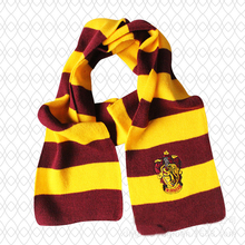 Free shipping Harry Potter Scarves Movie Fans' Favorite School Unisex Striped Gryffindor Scarve Free shipping 170*17cm