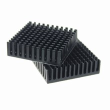 2 Pieces/lot 40x40x11mm Black Anodized Aluminum Fins Heatsink For CPU Cooler