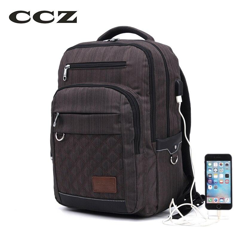 CCZ New Fashion Backpack USB Charging Backpack Male Shoulders Bag 14 Inch Laptop Bag Teenage Backpacks Rucksack BK8022<br>