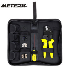Meterk 4 In 1 Wire Crimper tool Wire Crimper Engineering Ratchet Crimping Plier Ferrule Crimping Multi Tool Cord End Terminals