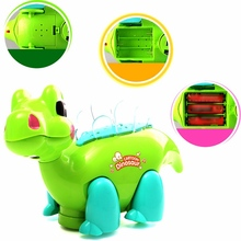 Hot Sale Cartoon Dragon Musical Shining Dancing Educational LED Light-Up Toys Projector Kids Baby Toys Gift For Children