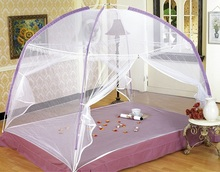 2015 New Fine Mesh Mosquito Net Mongolian Yurt Good Sleep Mosquito Nets For Double Bed Netting With Zipper Double Door