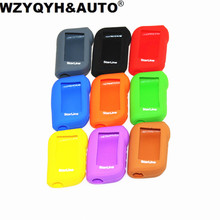 8 colors 1pcs/l Starline A93 A63 Two Way Car Alarm Silicone cover Case for Starline A93 A63 Silicone key Case Remote controller(China)
