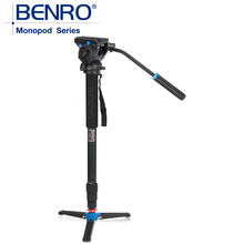 Benro Monopods A48TDS4 Aluminum Monopod Sport Scoping Bird Watching Monopod S4 Video Head 4 Joint Max Load 4kg Free Shipping(China)