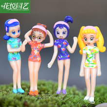 2017 Real New Juguetes Dragon Ball Fashion Cartoon Resin Cute Mini Girl Model Puzzle Diy Lovely Cheongsam Dolls Design Kids Toy