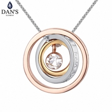 DAN'S element Brand Real Austrian Crystals Fashion Lucky Multi Color pendant Necklace For women 125215(China)