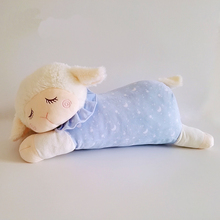 Free Shipping 36cm 14'' Cute Baby Kids Animal 2 colors Sleeping Sheep plush toy Soft appease doll for Children & Kids gift