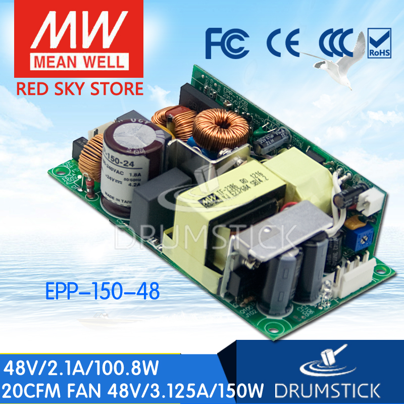Selling Hot MEAN WELL EPP-150-48 48V 2.1A meanwell EPP-150 48V 100.8W Single Output with PFC Function<br>