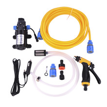 Washing sprinkler Machine 12V 80W High Pressure Vehicle Portable Electric Car Washer with Cigarette Lighter