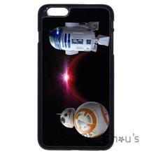 For iphone 4/4s 5/5s 5c SE 6/6s 7 plus ipod touch 4/5/6 back skins mobile cellphone cases cover Star Wars R2D2 BB8 Droid Robot