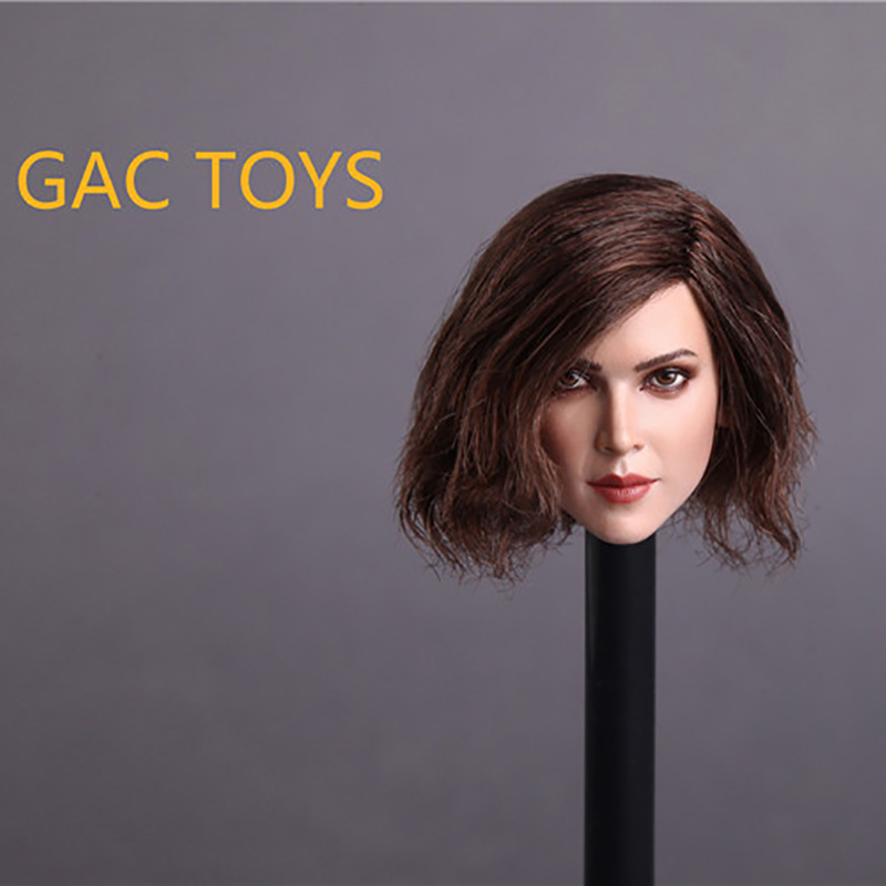 1/6 European Scale Girl Head Sculpt carving With GC004 B Short Hair GC004 for 12 Inch Phicen Action Figures Doll Toys<br>