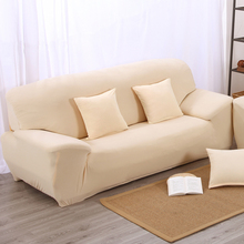 Elastic setter couch arm chair loveseat Chaise double seater Sectional corner  sofa cover  solid color beige
