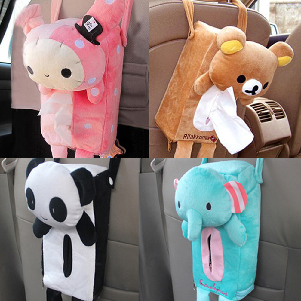 Cute Rabbit Bear Home Office Car Tissue Box Cover Holder Paper Box(China)