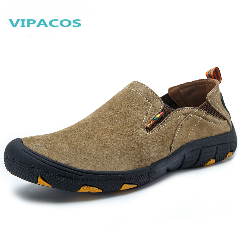 VIPACOS 2016 Top Quality Genuine Leather Mens Hiking Shoes WINTER Outdoor Climbing Trekking Boots Sports Sneakers Shoes Male<br><br>Aliexpress