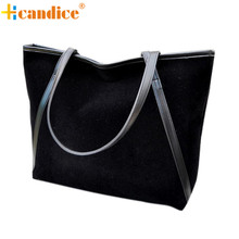 Naivety New Fashion New Simple Larger Capacity Faux Suede Women Bag Lady Handbag Bolso JUN10U drop shipping