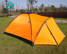 STAR HOME Camping Tent 2 Person 2.8KG Large Space Waterproof Tent Outdoor Beach Tents Orange Color One Bedroom Party Tent