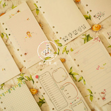 Dokibook 2016 new monthly notebook papers A6 pages planner filler agenda inside paper matching filofax kikkik - TUOBEN Store store