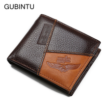 2017 Multifunction Wallets 100% Genuine Leather Wallet Fashion Men Brand Designer Credit Card Holder With Coin Pocket Purse(China)