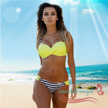 2017 push up bikini Large plus size swimwear women bikini set two pieces swimsuit female bathing suit swim biquini meizhiyong