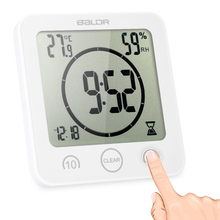 Wall Clock Digital Clock with Large Screen Display Temperature Humidity Excellent Multifunctional LCD Shower Clock with Timer(China)