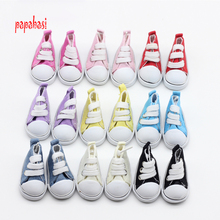 Papabasi Mix 5pair Assorted 5cm Canvas Shoes For 1/6 BJD Doll Fashion Mini Toy Shoes Bjd Shoes for Russian Doll shoes