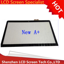 "New 15.6"" Laptop Replacement Touch Screen Digitizer Glass Repairing Part For Sony Vaio SVF152 SVF153 series free shipping"