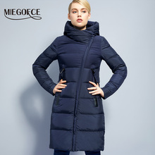 Winter Women's Jacket Coat Windproof Warm Women Parkas Thickening Cotton Padded Female Jacket Brand MIEGOFCE 2017 New collection(China)