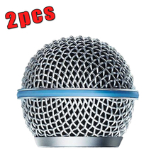 2PCS New Replacement Ball Head Mesh Microphone Grille for Shure BETA58 BETA58A SM 58 SM58S SM58LC