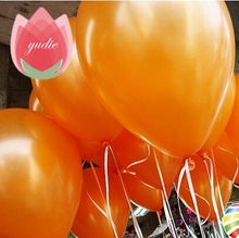 Free Shipping 10pcs 10inch Orange latex balloon air balls inflatable wedding party decoration birthday kid party Float balloons(China)