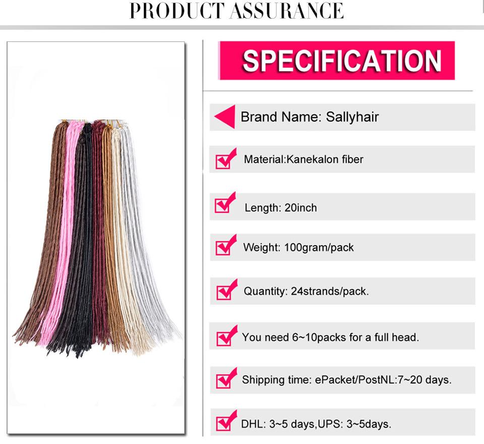 1 pack 24strands dreadlocks Crochet Braids Synthetic Hair Extensions Braiding Hair (10)_