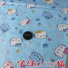 "Quilting Fabric  Hello Kitty Printed Cotton Fabric  Cotton Twill Fabric  Baby Fabric  Bedsheet  62"" Wide  Bty  Free shipping!!!"