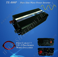 Off grid ce rohs 12v 24v price 800 watt pure sine wave inverter(China)