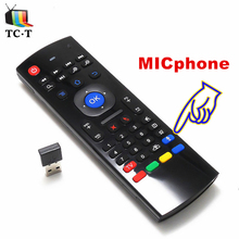 Original English Optional MX3 2.4GHz Air Mouse Wireless Keyboard Remote Control with MICphone for Android TV BOX Media Player