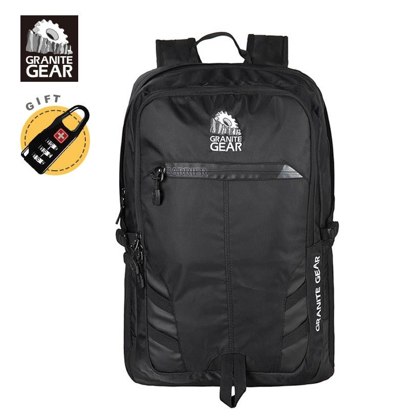 Granite Gear Mens Backpack 15 Laptop Backpack Men 29L City Backpack Black Cool Bagpack Sac a dos <br>