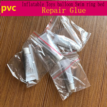 2pcs portable liquid super glue PVC repair outdoor inflatable gas-filled balloon swim bed toys tool adhesive glue(China)