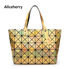 Aliceherry Women BAOBAO Bag tote Geometric Handbag Sequins Plain Folding Bags Luxury Handbags Women Bags Designer BAO BAO Bag