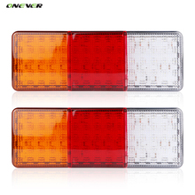 2PCS 12V 75LEDS Trailer Truck LED Tail Light Lamp Yacht Car-Trailer Taillight Reversing Running Brake Turn Lights