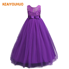 Kids Wedding Summer Party Dresses For Girls Birthday Princess Clothes Children Toddler Elegant Formal Vestido Infant 3-14 yrs