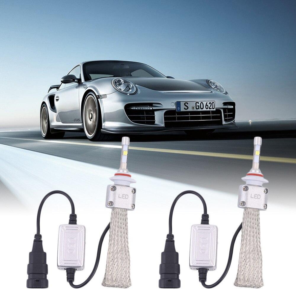 1Pair A8 H10 Car LED Headlamp Bulb Head lights Replace Xenon Headlights 5500LM 120W 6000K LED Chip White DC 12V-36V<br>