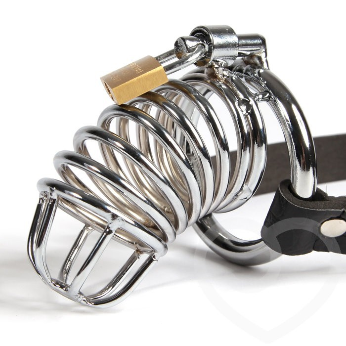 Including 3 size ring metal male chastity belt cock cage Device CB6000S bondage restraint sex toys 1