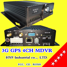 3G MDVR manufacturers direct sales GPS positioning on-board monitoring host 4 way SD card car video recorder train / ship(China)