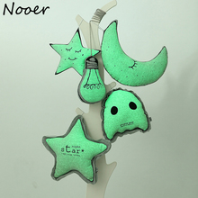 Nooer Night Baby Appease Moon Star Fluorescence Plush Toy Bulb Luminous Doll Pendant Baby Toys Birthday Children Graduation Gift(China)