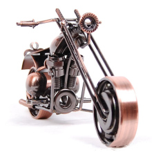1pc 21cm Original Antique Motorcycle Model Vintage Brass Black Bronze Color Screw Gear Craft Home Decor Boy Father's Gift M121A(China)