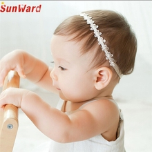 SUNWARD Delicate Hot! 2017 headband hair accessories  Girls Princess Lace Flowers Diamond Pearl Headbands Elastic Hairbands W12