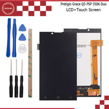 For Prestigio Grace Q5 PSP5506 Duo LCD Display and Touch Screen Assembly Repair Part 5 inch Mobile Accessories+Tools+Adhesive
