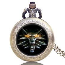 Floating Glass Bronze New Vintage Retro Cool Roaring Lion Gift Pocket Watch Game Of Thrones Chain Men Full Hunter Necklace(China)