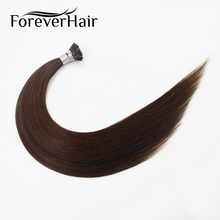 "FOREVER HAIR 0.8g/s 16"" 18"" 20"" Remy Pre Bonded Human Hair Extensions Color #P2/4 Straight Keratin Stick Tip Human Hair(China)"