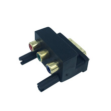 New DVI 24+5 Male to 3 RGB RCA AV Female Adapter Converter for LCD HDTV DVD