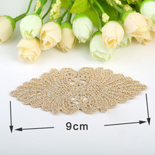 2017 Etiquetas 20pcs Manual Hair Diy Material Gold And Silver Line Flower Clothing Accessories Manufacturers Supply Wholesale